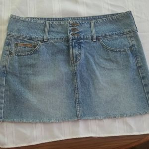 l.e.i. Jean mini skirt w/wide waistband 5pocket